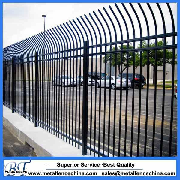 Steel picket security fencing